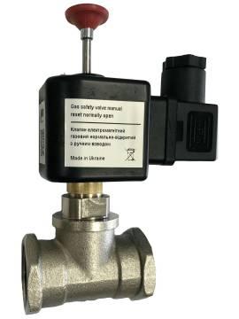 Клапан електромагнітний газовий КЕМГ NA DN15 ~220В